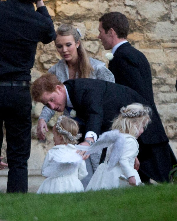 Prince Harry attends the wedding of close friend Jamie ...