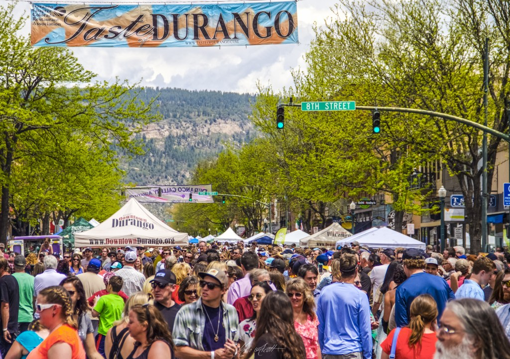 Crowd Enjoying Taste of Durango