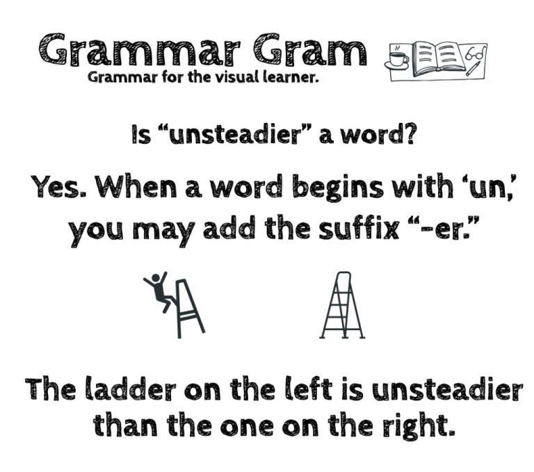 Is unsteadier a word? Grammar Gram Answer by The Durango Wordsmith
