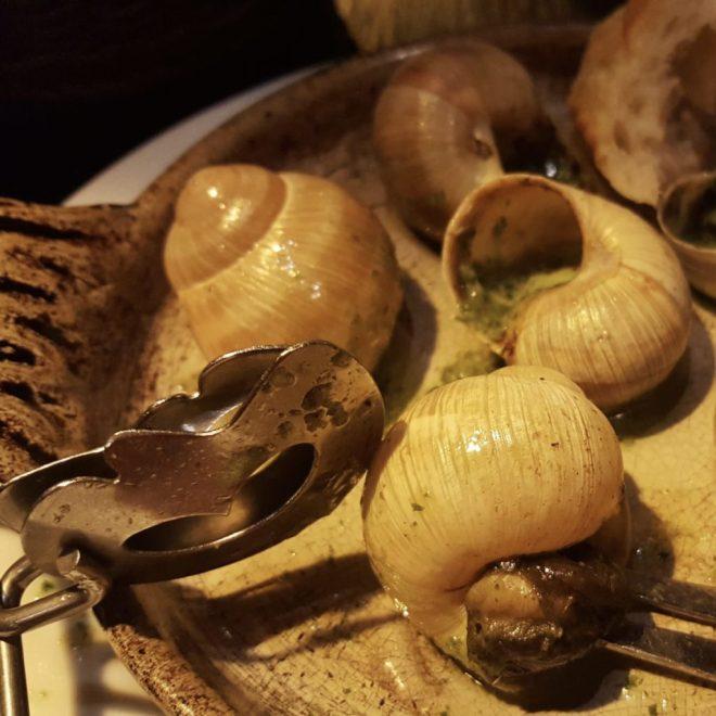 escargots in garlic butter