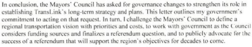 Provincial Transportation Referendum Excerpt