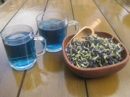 Blauwe vlinder thee