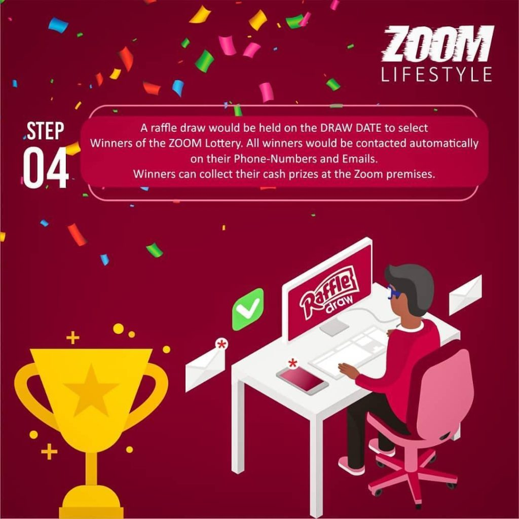 Step 4 for Zoom Lifestyle Lottery