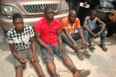 Image result for Ondo Police parade four suspected armed robbers