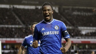 Chelsea's Mikel John Obi Mikel celebrates scoring his side's first goal of the game