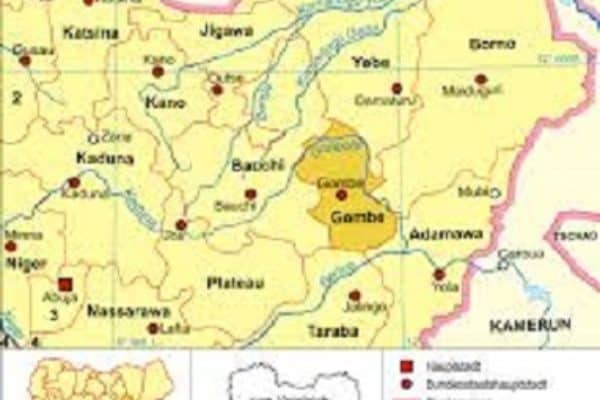 Map of Gombe State COVID-19: Gombe discharges 20 patients