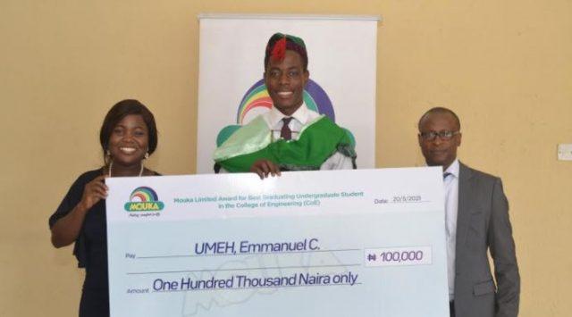 Mouka rewards best graduating students of Covenant University -