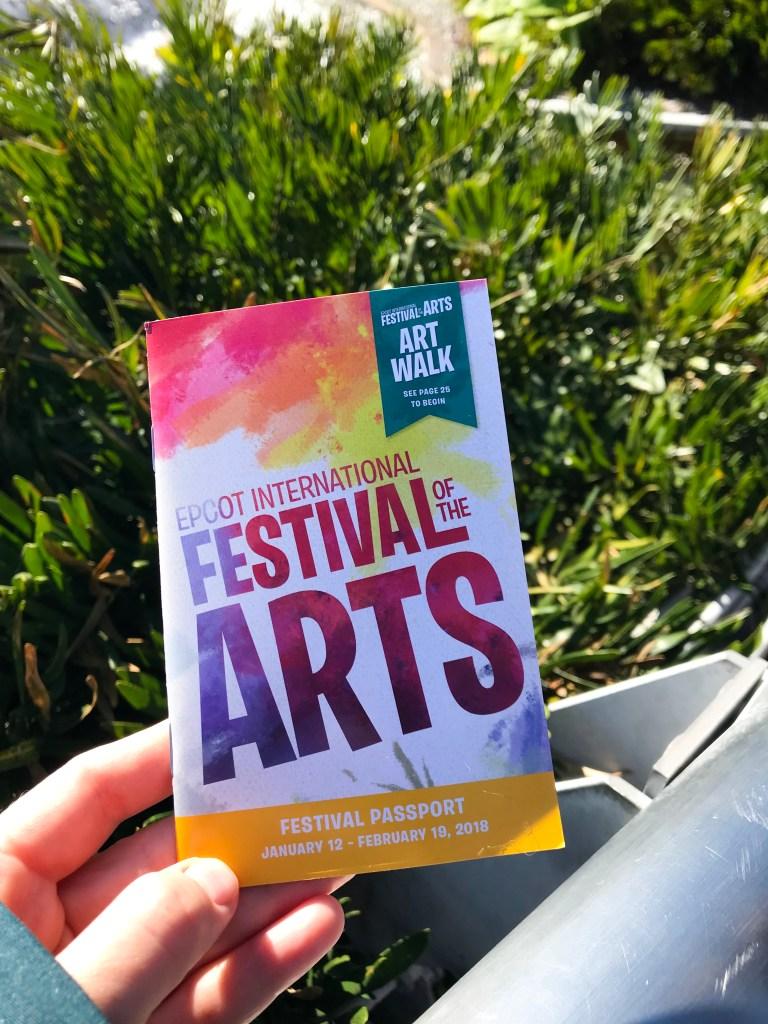Epcot International Festival of the Arts Festival Passport