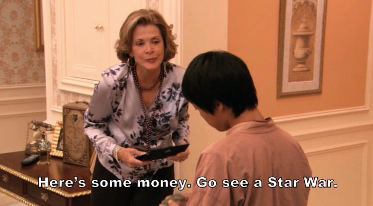 Lucille Bluth tells a child to go see a Star War.