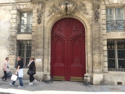 Here are some stone ones in the Marais. Impressive doors too!