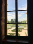 And a look at the gardens from inside the chateau