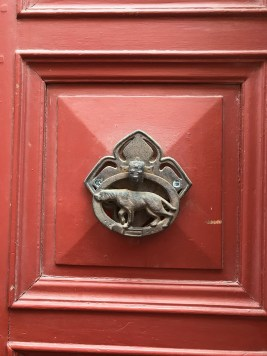 Intriguing dog door in Carcassonne.