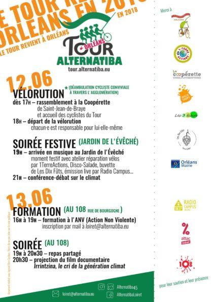 Programme TOur Alternatiba Orléans 2018