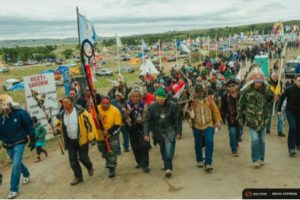 Native American protesters seeking to halt construction of the Dakota Access pipeline near the Standing Rock Sioux reservation. Credit: Reuters