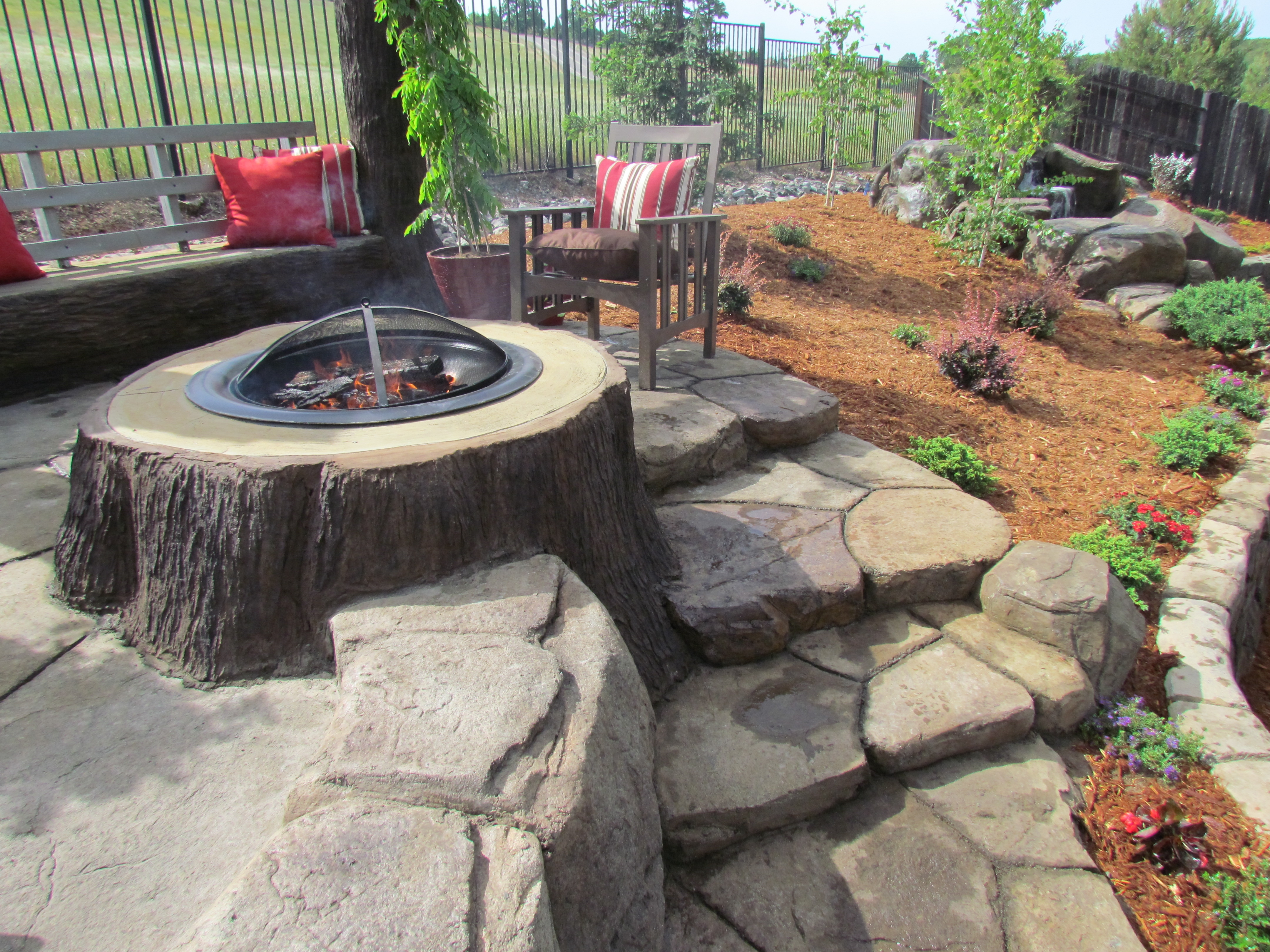 Fire Pits | The EarthScape Company on Living Room Fire Pit id=83141