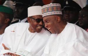 Buhari and Saraki yesterday in Abuja