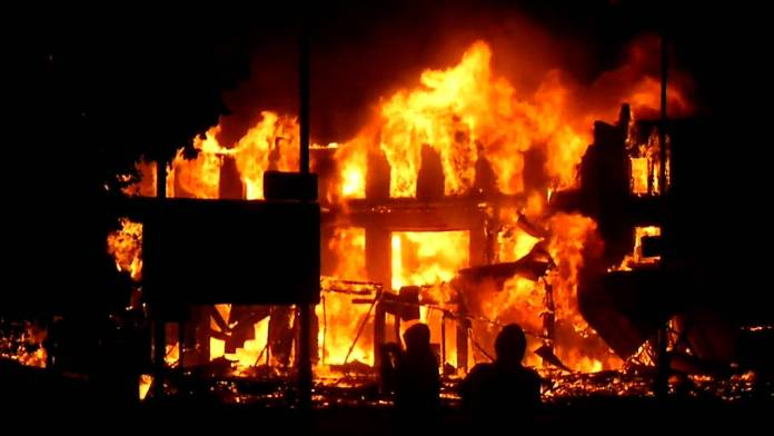 INEC office set ablaze