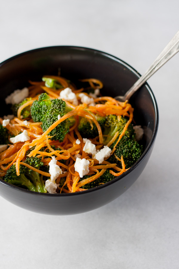Warm Broccoli and Goats Cheese Salad Recipe