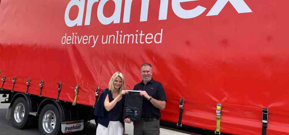 Aramex Lorry with The Better Packaging Co.