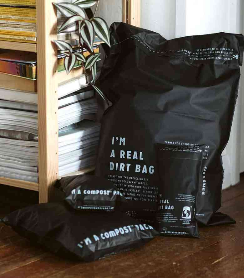 The Better Packaging Co Black comPOST packaging