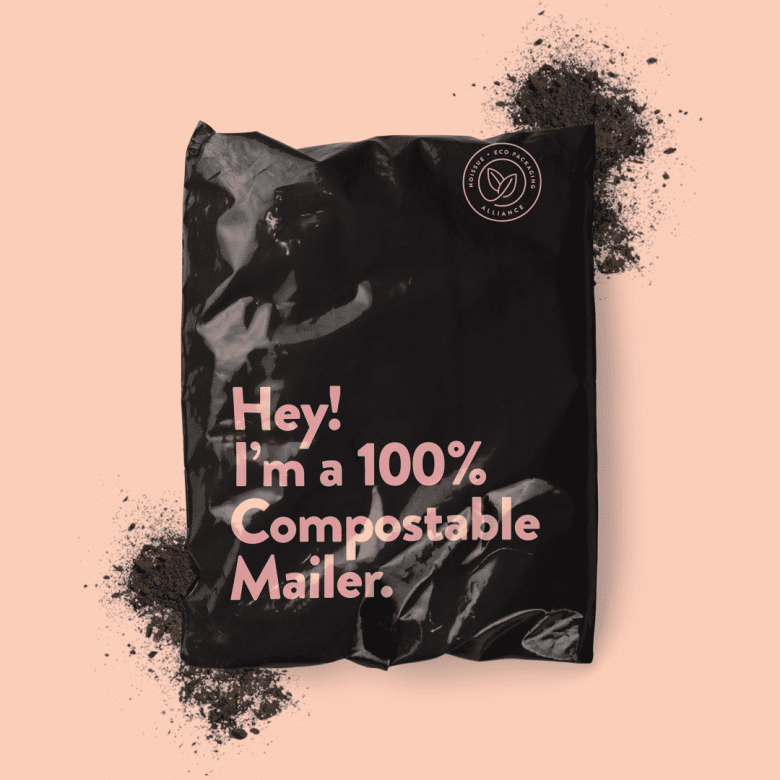 noissue eco-friendly custom packaging compostable jiffy bag