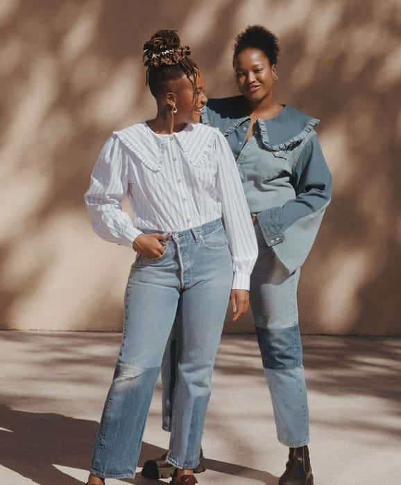 Ganni x Levis Upcycled Denim Collection
