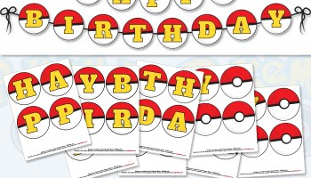 pokmon go pokbanner free printable birthday banner - Free Printable Pokemon Pictures