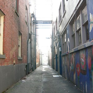 Dark Alley - Photo by Joe Mabel