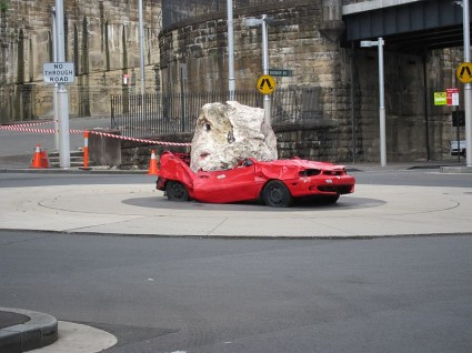 Crushed Car By UCFFool