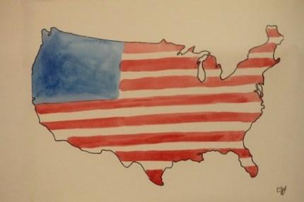 American Flag Painting - Public Domain