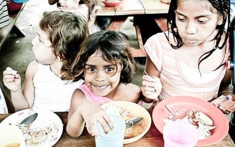 Children Orphans Eating - Public Domain