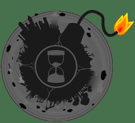 Debt Bomb Globe - Public Domain