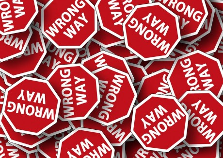 Wrong Way Signs - Public Domain
