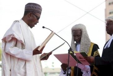 Buhari sworn in as President, Promises to crush Boko Haram