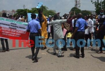 Protest demanding the reopen of Universities in Abuja.