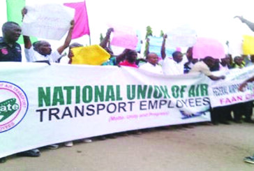 Aviation unions protest at Lagos airport