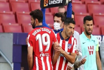 Suarez celebrates debut double in Atletico Madrid triumph