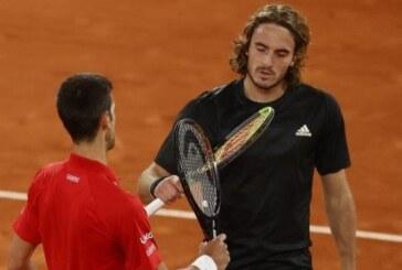 Djokovic beats Tsitsipas to make final