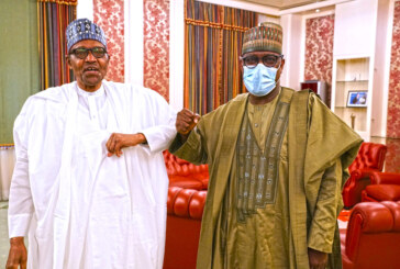 President Buhari in an audience with The Niger State Governor, Alhaji Abubakar Sani Bello