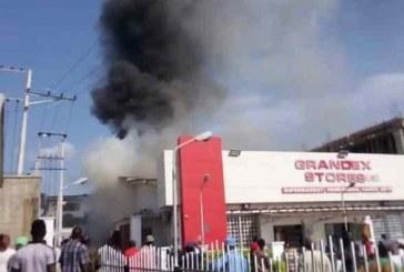 Fire razes Ajimobi's widow Grandex stores in Ibadan