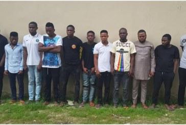 EFCC arrests 16 suspected internet fraudsters in Lagos