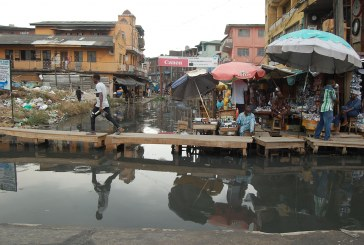 Dilapidated portion in Lagos Island