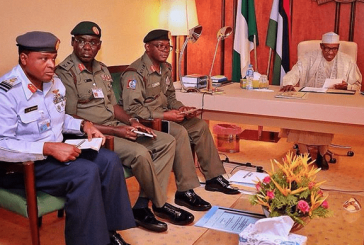 President Buhari Presides over Security Meeting with Service Chiefs