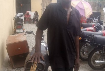 Man arrested with police motorcycle in Lagos