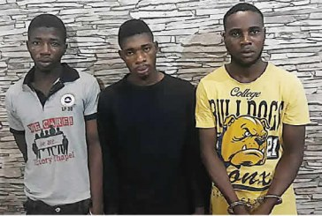Three nabbed for robbing UK returnee, neighbour of valuables worth N14m