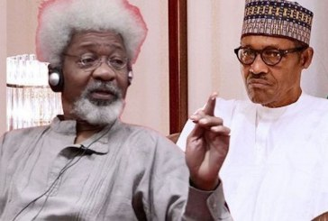 """""""Stop Improvising with Human Lives"""" — Soyinka tells Buhari"""
