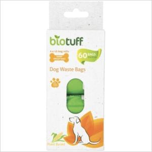 Biotuff Dog Waste Bags Refill 4 X 15 Bag Rolls 60