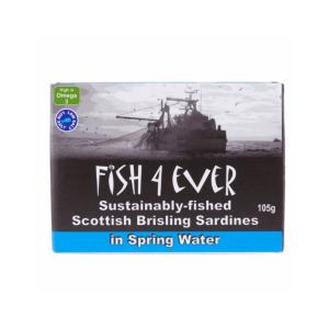 Fish4Ever Spratts (Sardines) in Spring Water ~ 105g