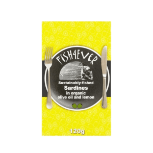 Fish4Ever Sardines in Organic Olive Oil & Lemon ~ 120g