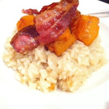recipe for squash and bacon risotto